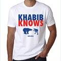 Nueva llegada de los hombres camisa de diseño de moda masculina manga corta t-shirt khabib nurmagomedov khabib nurmago inconformista informal tops frescos