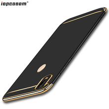 Redmi Note 7 Case For Xiaomi MI Play Capa Fashion business 3 in 1 stitching PC Phone Back Cover Xiomi Note7 Coque