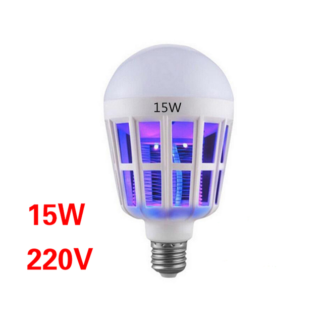 Indoor 2 Modes E27 LED Mosquito Killer Lamp Bulb Electric Trap Light Electronic Anti Insect Bug Pest Fly for Outdoor kitchen 4
