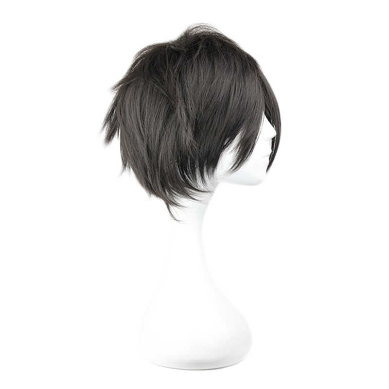 Sword Art Online Kirigaya Kazuto peruka przebranie na karnawał SAO Kirito mężczyźni kobiety krótkie czarne włosy syntetyczne Party do odgrywania ról peruki