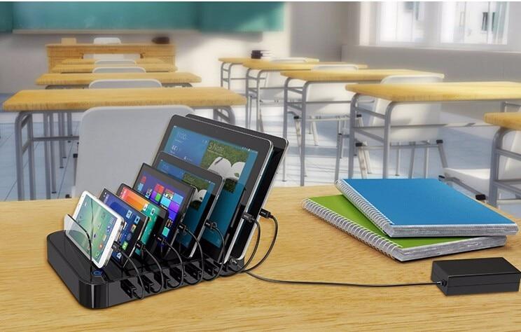 Многофункционална USB зарядна станция - Резервни части и аксесоари за мобилни телефони - Снимка 5