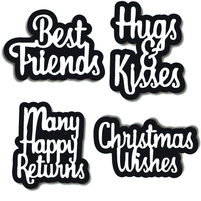 best friend wishes metal Cutting Dies Scrapbooking craft Dies cuts thin paper art emboss knife card make punch stencil 123*100mm