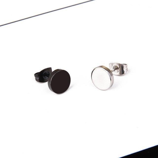Hip Hop Rock 4 6 8 10mm Black Titanium Steel Stud Earrings Stainless Steel Dumbbell Earrings.jpg 640x640 - Hip Hop Rock 4/6/8/10mm Black Titanium Steel Stud Earrings Stainless Steel Dumbbell Earrings Jewelry For Women Men A00062