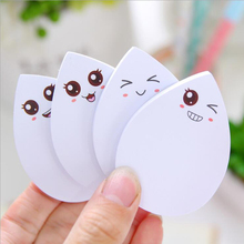 2PCS Creative Stationery Sticky Notes Memo Pad Water Drop N Times Smiley Face Paper Sticker Notepad Office Supplies