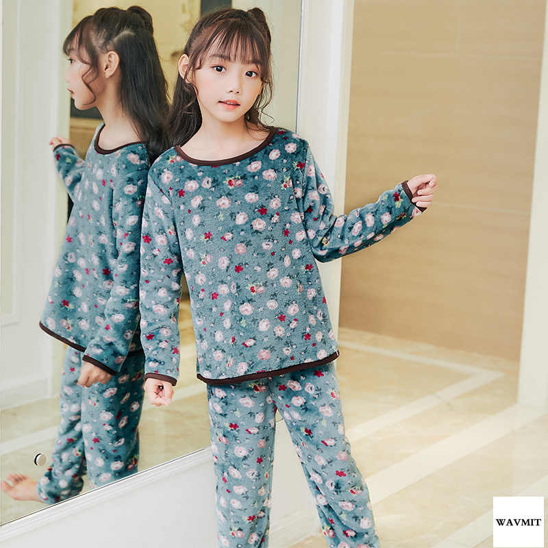 b8adc4b55 Detail Feedback Questions about Children Fleece Pajamas Winter ...
