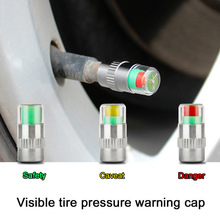 4pcs Car tire pressure monitor gage alert sensor indicator valve caps Alert Diagnostic Tools Kit accessories
