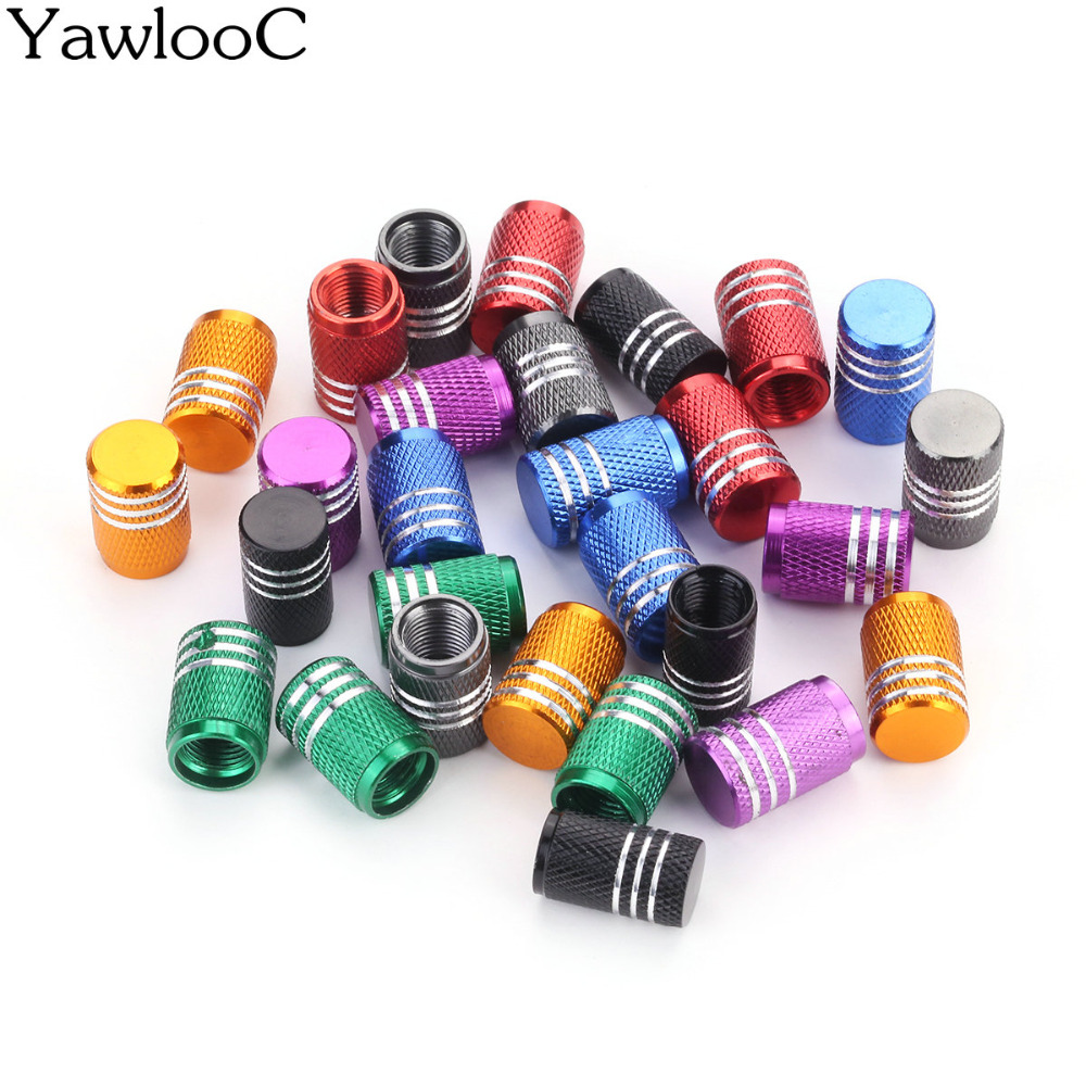 4 Pc/lot Universal Aluminum Car Truck Bike Motorcycle Tyre Tire Valve Core Caps Wheel Valve Stem Cap Dust Cover