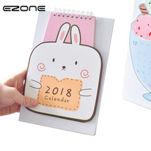 EZONE Monthly Planner Desk Calendar 2018 Agenda Rabbit/Ice Cream Shape Diary Journal Notebook Material Escolar Papelaria Kawaii