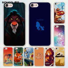 MOUGOL comic The Lion King Hakuna Matata design hard clear Case Cover for Apple iPhone 7 6 6s Plus SE 4s 5 5s 5c Phone Case