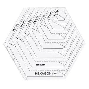Image 4 - 5x Quilting Polygon Hexagon Shapes 바느질, 퀼팅 및 스크랩북 용 아크릴 템플릿 읽기 쉬운 표시