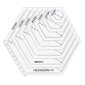 Image 4 - 5x キルティングポリゴン六角形状アクリルテンプレート縫製、キルティングやスクラップブッキング読みやすいマーキング