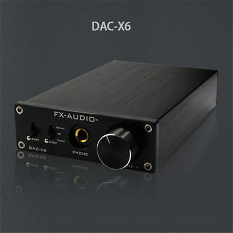2016 Fx-audio Feixiang DAC-X6 Fever HiFi Amplifier Amp USB Fiber Coaxial Digital Audio Decoder DAC 24BIT/192 Free Shipping Black new listing trasam dac3 xmos hifi 192khz 24bit hifi optical fiber coaxial digital audio amp dac decoder