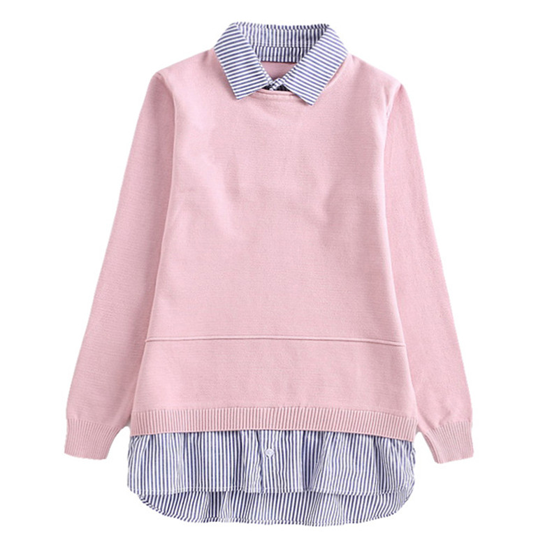 все цены на 10 to 16 years kids & teenager big girls patchwork striped trim knitted pullover long sweater children fashion casual sweaters