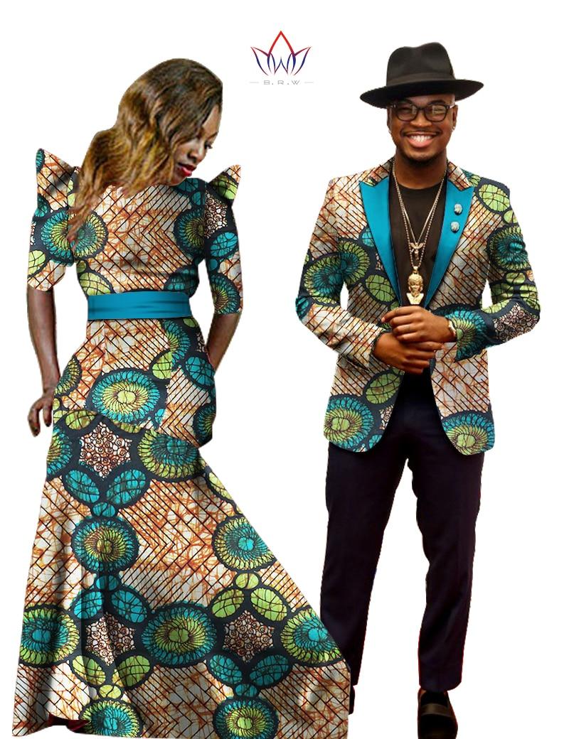 New 2017 Women Dress African Print Dress Dashiki Mens Bazin Riche