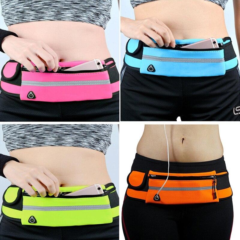 HTB18vpJdi6guuRjy0Fmq6y0DXXaj 2019 New Men Women Gym Fitness Pocket Waterproof Sports Waist Bag Pack Belly Belt Bag Outdoor Running Waist Bags Simple Solid