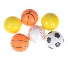 CheckOut 1PCS 10cm Balls Football Basketball Sponge Foam Squeeze Stress Relief Toy Hand Wrist Exercise PU Rubber Toy online