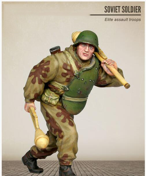 Assembly  Unpainted  Scale 1/35 SOVIET Assault Troops    Figure Historical  Resin Model