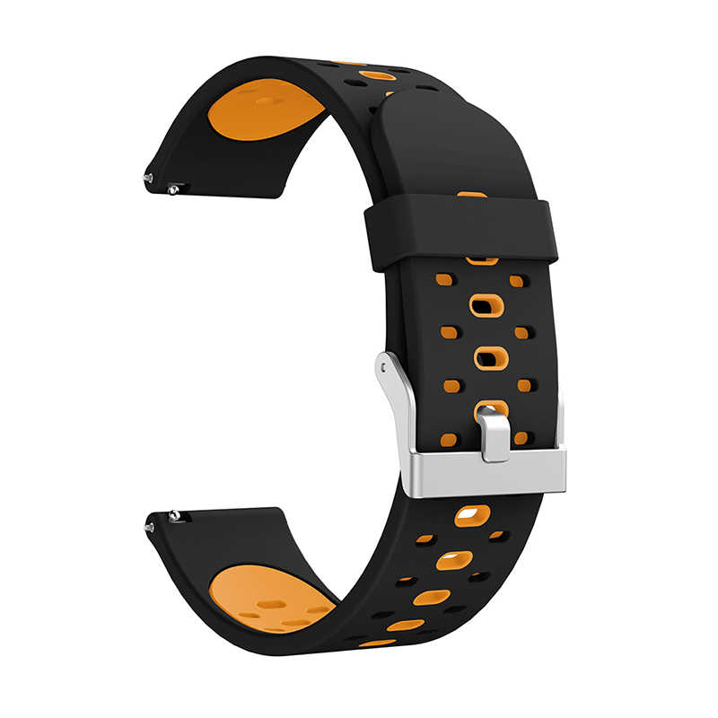 Silicone Strap Bracelet For Huami Youth Edition Samsung active three-row hole two-color silicone belt watch band