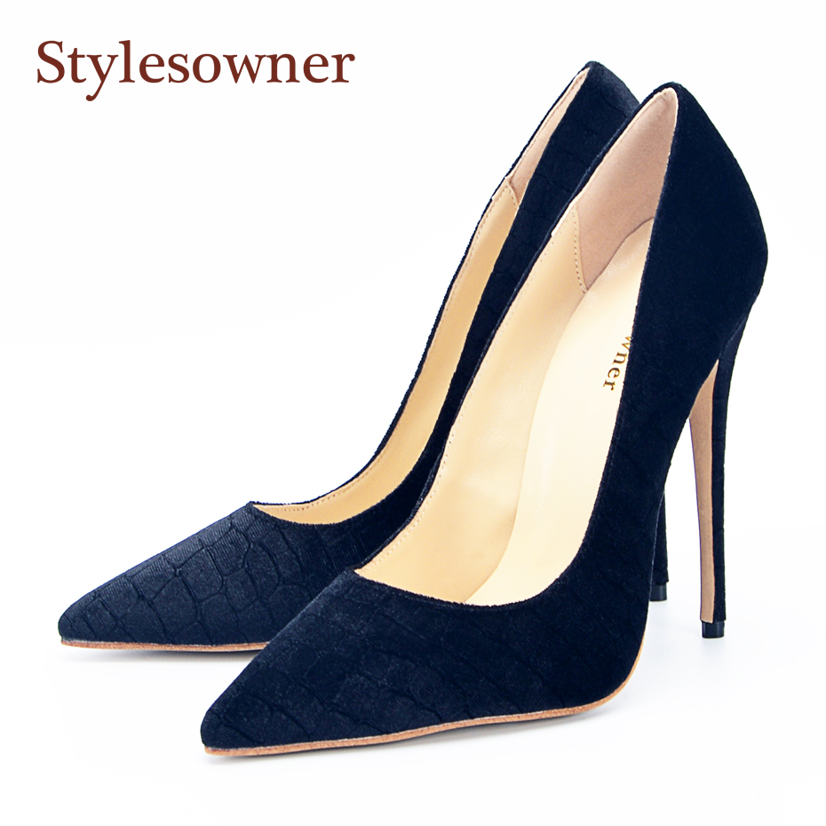stylesowner Top Quality Lady High Heels Pumps Shoe Pointed Toe Shallow Mouth Velvet New Fashion Single Dress Shoe Solid Color stylesowner Top Quality Lady High Heels Pumps Shoe Pointed Toe Shallow Mouth Velvet New Fashion Single Dress Shoe Solid Color