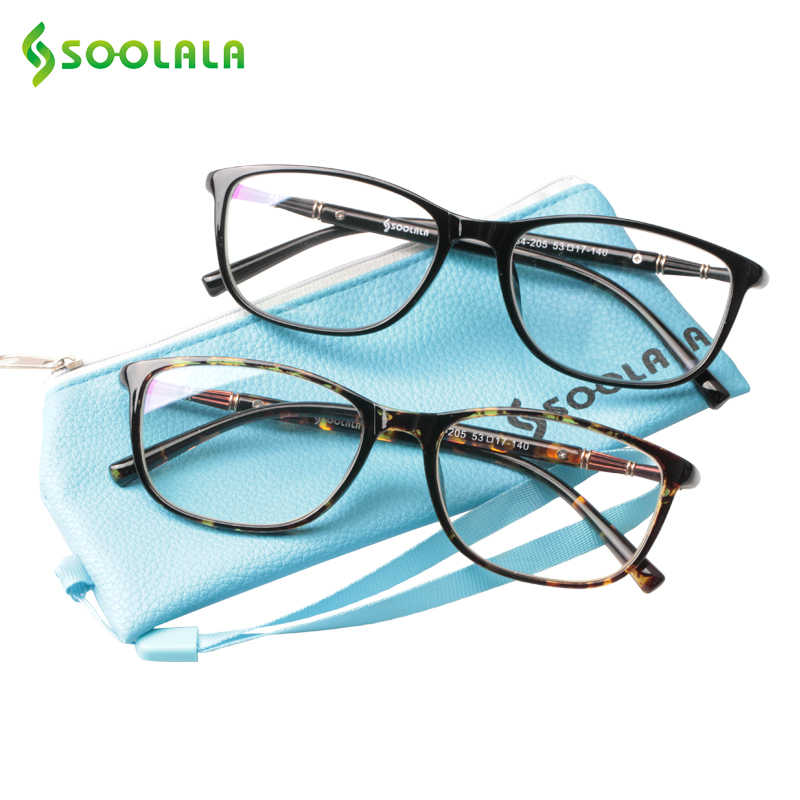 fd5c95bd13 SOOLALA Oversized TR90 Reading Glasses Women Men Full Frame Clear Lens  Eyeglasses Frame Ladies Reading Glasses