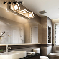 JUSHENG Indoor 9W Square Led Wall Lamps in Bathroom Wall Lighting Fixtures3 lights 48cm AC220V/110V Home Deco led Lamps