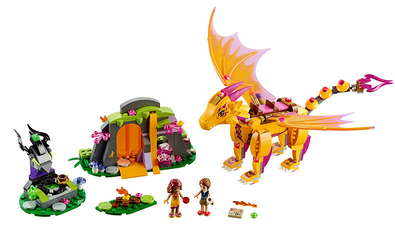 Model Building Blocks Latest Collection Of Mylb New Elves Fire Dragons Lava Cave 446pcs/set Legoed Fairy Building Block Toys For Children Drop Shipping A Wide Selection Of Colours And Designs