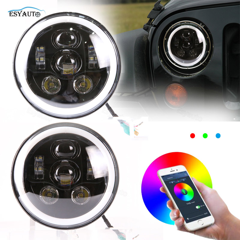7inch 60W RGB Freestyle Lamp Each Bulbs 6pcs LED Chips Individual Styling High Beam Off-road Headlight For Jeep Wrangler/Harley вибратор ohmibod freestyle w голубой