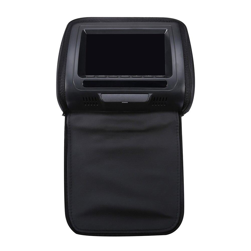 7 дюймов HD подголовник автомобиля Инфракрасный видео динамик на молнии Крышка Регулируемый ЖК-экран многофункциональная игра USB монитор dvd-плеер - Color: Black