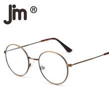 JM Wholesale 10pcs/lot Retro Round Computer Reading Glasses Metal Circle Frame Gaming Eyeglasses Anti Blue Light UV400