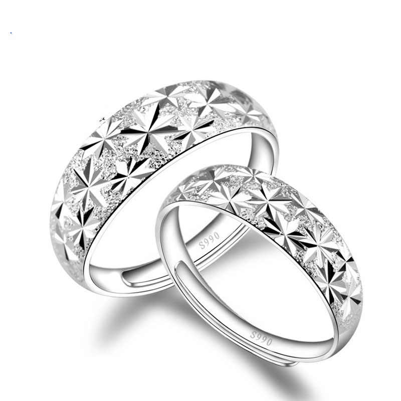 Trendy Classical Wedding Rings For Women Men 925 Sterling Silver