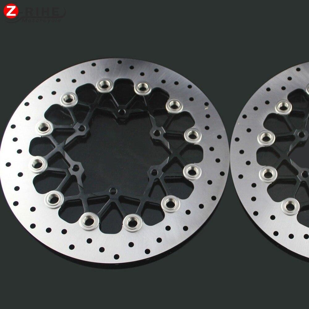 купить 2PCS Front Floating Brake Disc Rotor motorcycle parts Aluminum  Brake Rotors for SUZUKI GSXR1000 K9 09-15 GSXR600/750 11-15 онлайн