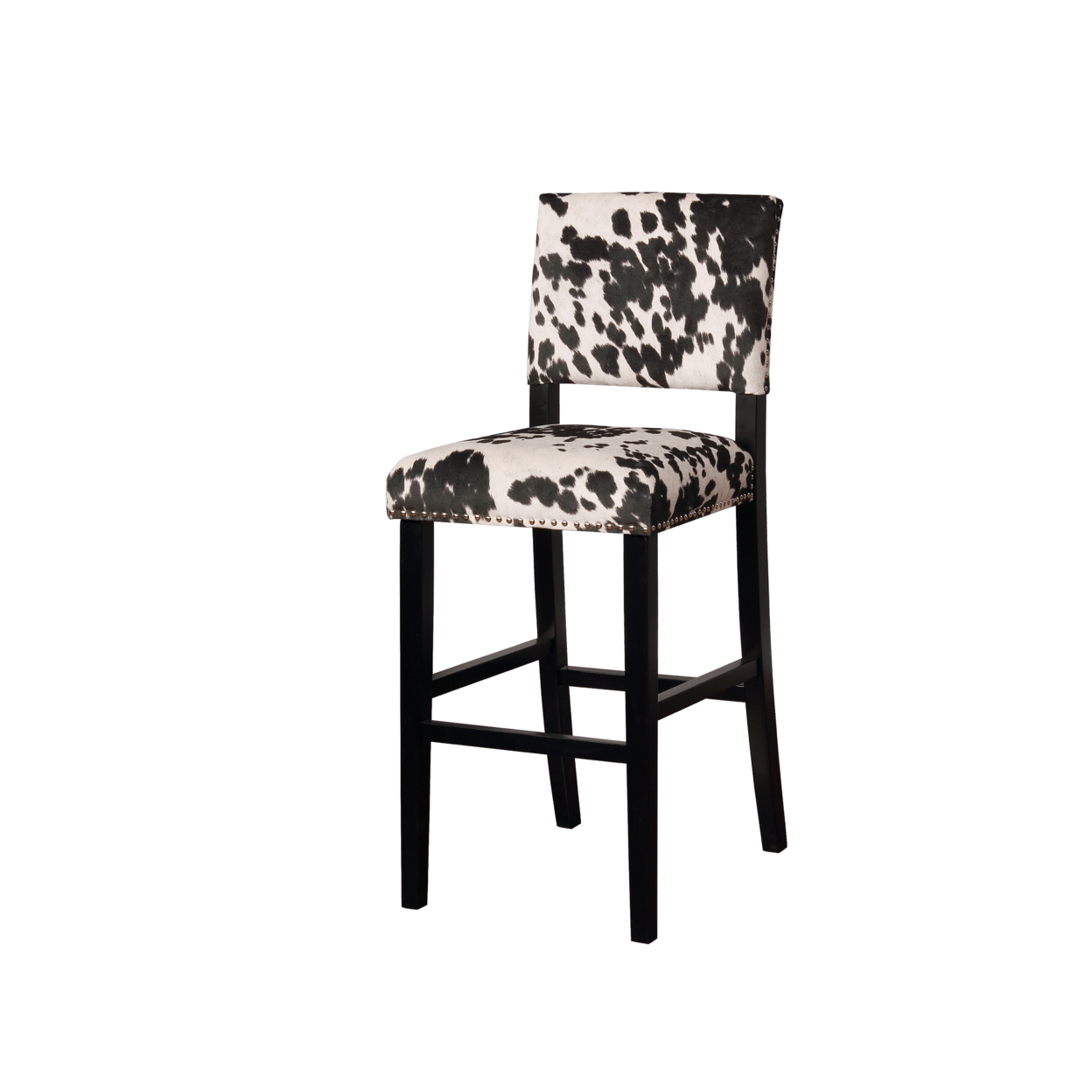 Clayton Black Cow Print Bar Stool свитшот print bar crazy