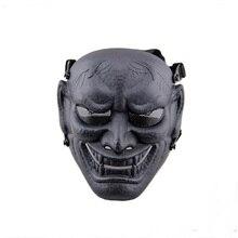 2017 Nieuwe Tactische Masker DC11 Japanse Ghost Koning Samurai Airsoft Volgelaatsmasker Party Cosplay Horror Jacht Beschermen Sjaals