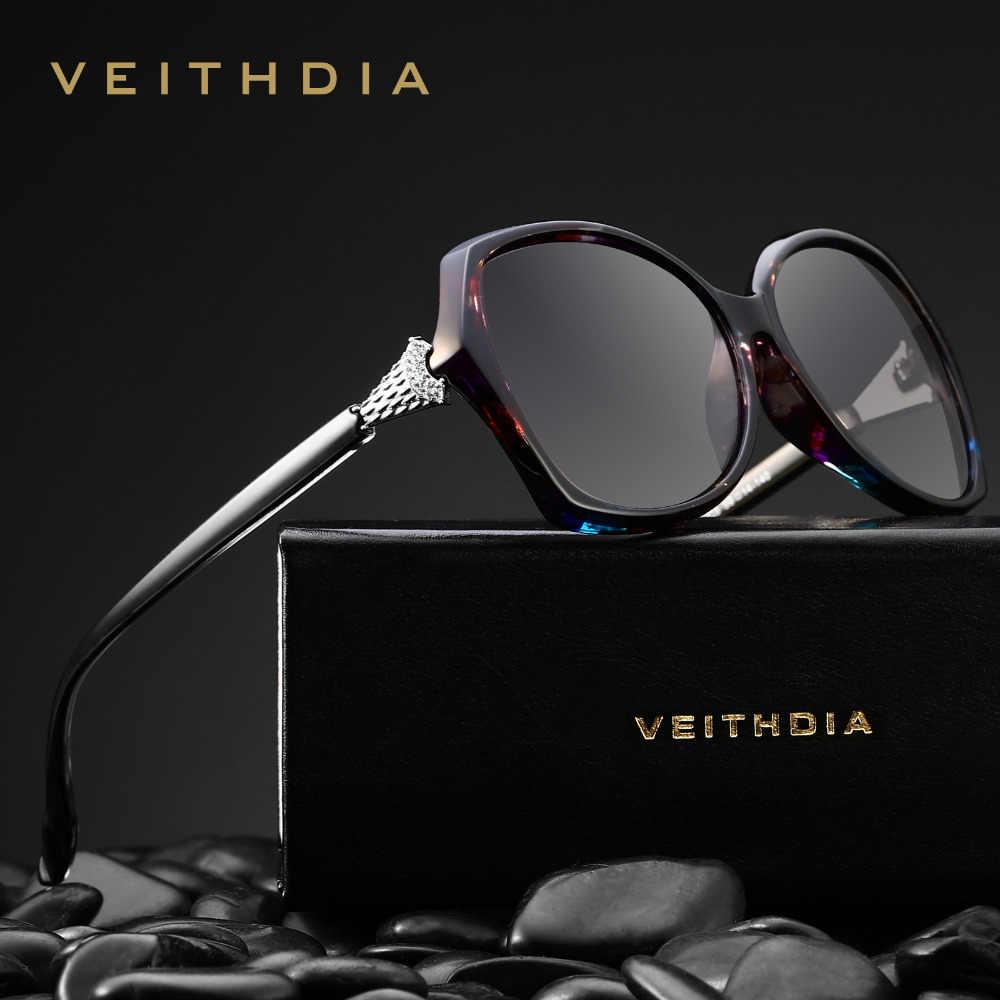 Veithdia Vintage Wanita Merek Desain Berjemur Kacamata Mewah Wanita  Kacamata Hitam Rretro Terpolarisasi Kacamata untuk Perempuan 2f97a84caf