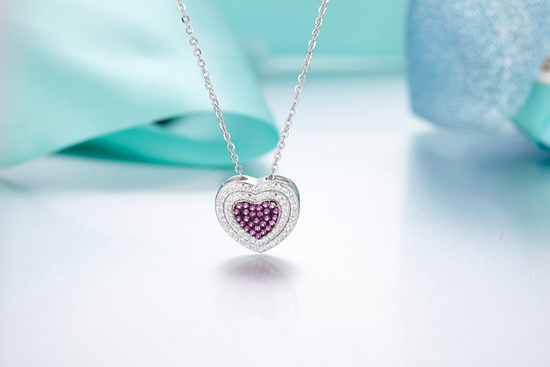 heart shape pendant necklace for special peopleDP14020A (4)