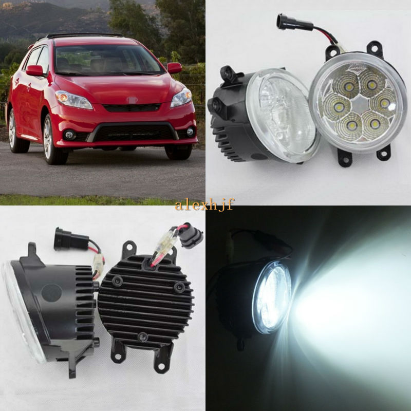 July King 18W 6500K 6LEDs LED Daytime Running Lights LED Fog Lamp case for Toyota Matrix 2009~2012, over 1260LM/pc july king 18w 6500k 6leds led daytime running lights led fog lamp case for peugeot 107 2012 2015 over 1260lm pc