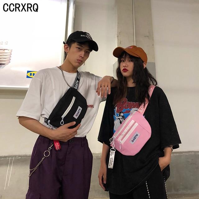 f66469cc89aa US $7.48 49% OFF Aliexpress.com : Buy CCRXRQ Women Waist Bags 2019 Fashion  Lady Waist Pack Handy Belt Bag Oxford Fanny Pack Travel Phone Hip Bag Anti  ...