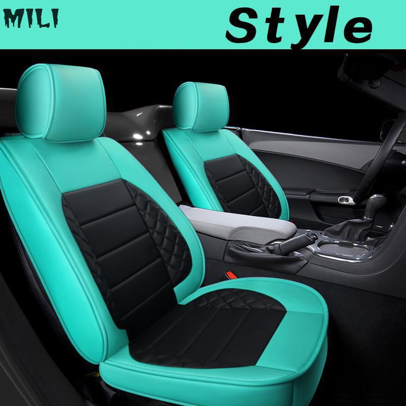 2019 hots ( Front + Rear ) Special Leather car seat covers For passat polo golf tiguan auto accessorie styling image