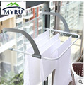 Free Installation Balcony Indoor Outdoor Telescopic Clothes Racks Foldable Clothes Hanger