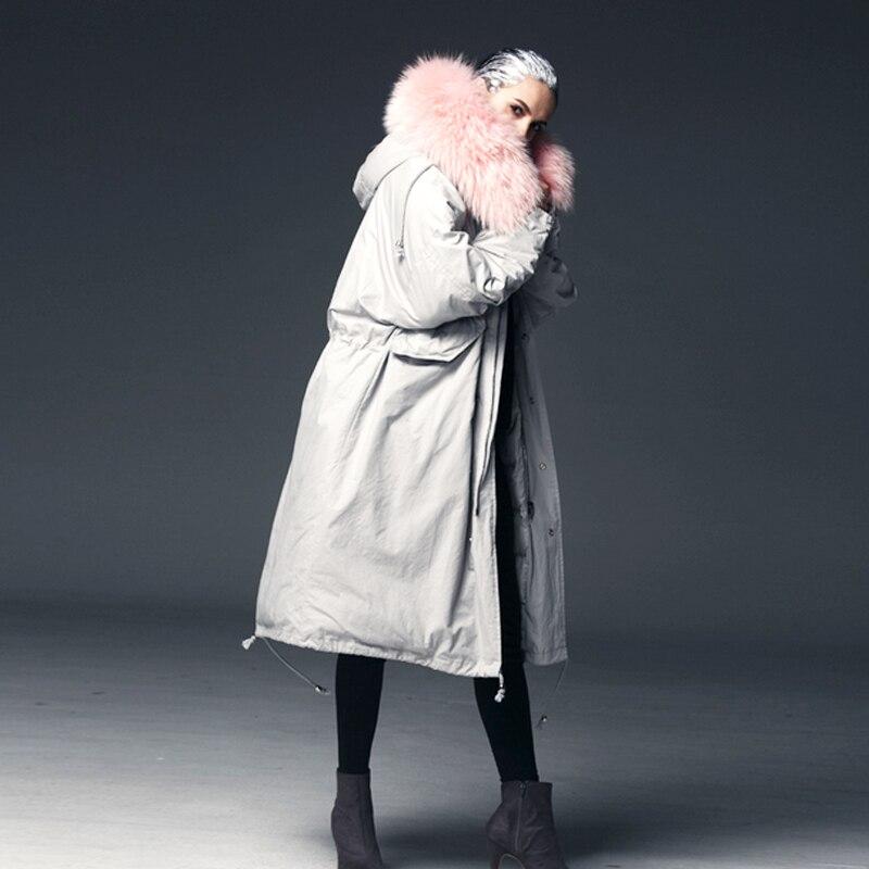 Chaud Color Neuf Lâche Pink White De Rose Grand Blanc Duvet Longue Parka Black D'hiver 2018 Canard Manteau Raton Femmes huge Brown Laveur Super Qualité Haute Huge Veste Femme Fur Fur Fourrure Réel wAxqnx7S1