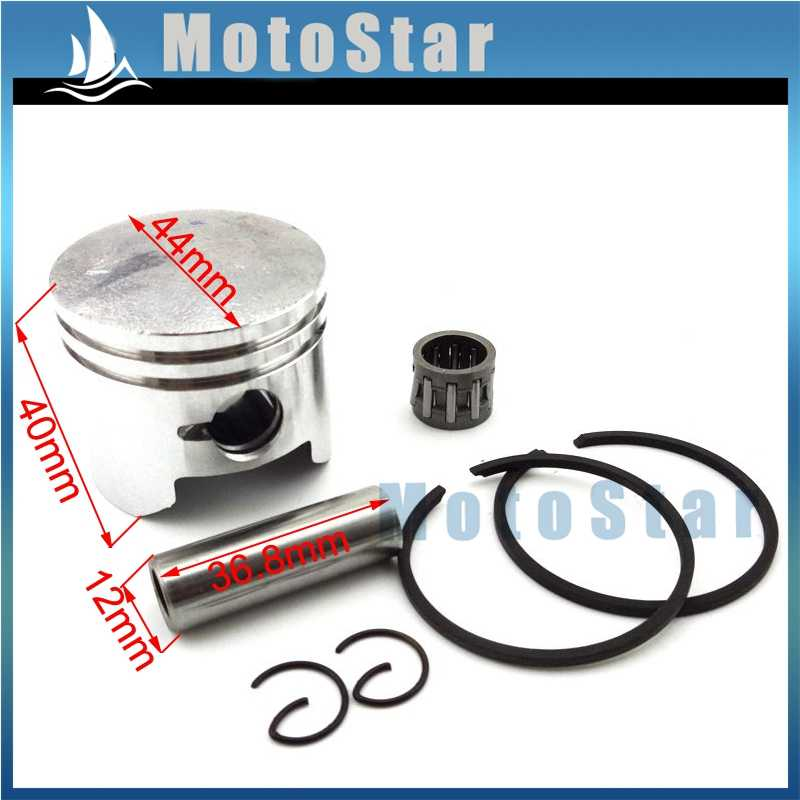 Minimoto 44mm Piston 12mm Pin For 2 Stroke 49cc Engine Chinese Pocket Dirt Bike Mini Moto ATV Quad 4 Wheeler