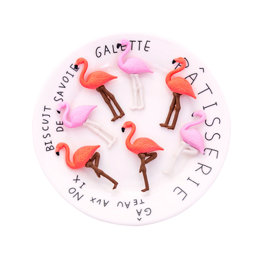 4pcs/lot Cartoon Flamingos Animals Eraser Rubber Pencil Erasers Stationery Students Gifts
