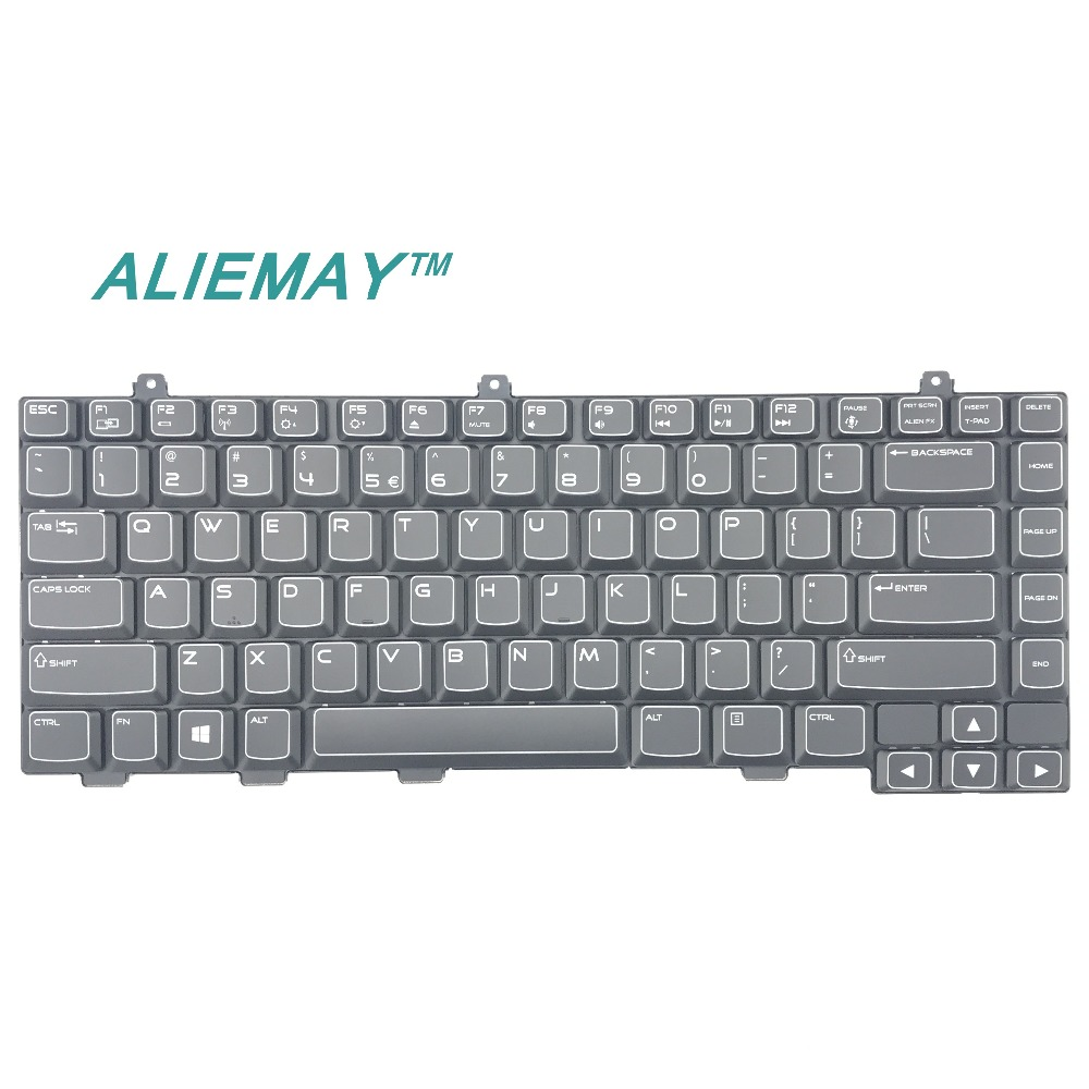BRAND New orig laptop case for DELL alienware m14x R2 US Backlit Keyboard 16XHW 016XHW new us keyboard for acer aspire vn7 793g vx5 591g vx5 591g 52wn us laptop keyboard with backlit