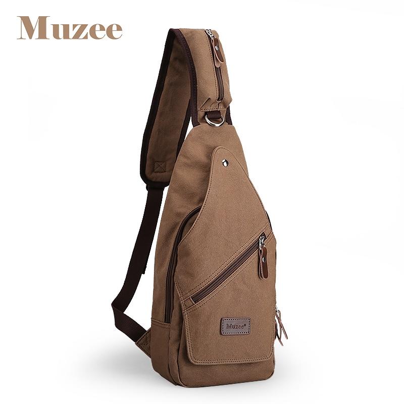fa278a18703e Muzee Ретро сумка мужская парусиновая сумка через плечо Crossbody Кошелек мужской  рюкзак