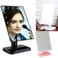 Beleza Cosméticos Maquiagem Iluminado Desktop Stand Espelho Com 20 DIODO EMISSOR de Luz Com Aparência Requintado E Elegante Venda Quente