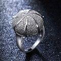 Agradável Dome Anel para As Mulheres Ródio & o Ouro anel Banhado A Moda Chumbo Cor Pedra anel Gratuito Alergia Frete Grátis