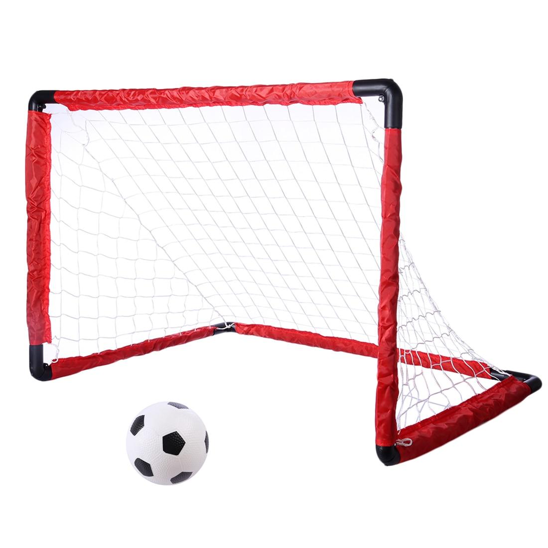 Portatile Pieghevole Goal di Calcio Per Bambini Set Porta di Calcio Cancello Calcio Giocattolo Netto