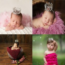 Newborn Photography Props Baby Party Costume Tiara Princess  Crown Studio Shooting Headband fotografia