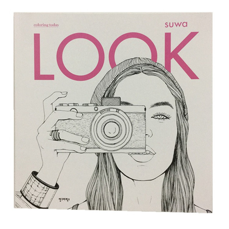 2017 Fashion LOOK Coloring Books For Adult Children Girls antistress Art Drawing Painting Secret Garden colouring book Libros
