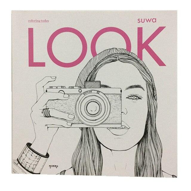 2017 moda mirar para colorear Libros para niños adultos Niñas ...